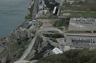 Lathbury Barracks - Image: View from Spur Battery, Gibraltar 18
