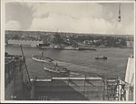 View from southern approach of the Sydney Harbour Bridge, 1928 (8282714051).jpg