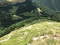 View from the footpath between Alpe d'Orimento and Monte Generoso towards southeast j.jpg