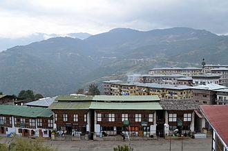 Mongar - View of Mongar town