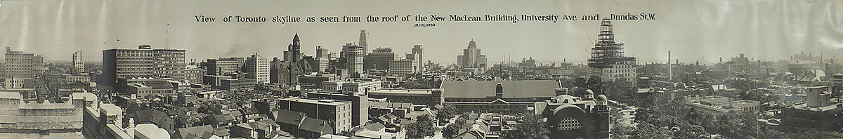 View of Toronto skyline from roof of MacLean Building.jpg