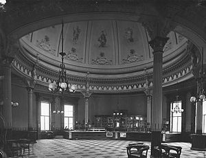 Windsor Hotel (Montreal) - The hotel's lobby rotunda in 1878