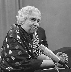 Indian Ambassador to the United States - Image: Vijaya Lakshmi Pandit 1965b