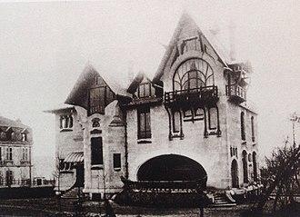 Villa Majorelle - North facade of Villa Majorelle in 1904
