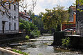 Vipava Lanthieri mansion Vipava river Tabor bridge 13092009 44.jpg
