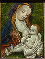 Virgin and Child, Netherlands, 1400-1450, reverse glass painting - Bode-Museum - DSC03648.JPG