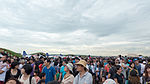 Visitors Looking Sky before Mirage 2000 Flight Demonstration Beginning 20151121.jpg