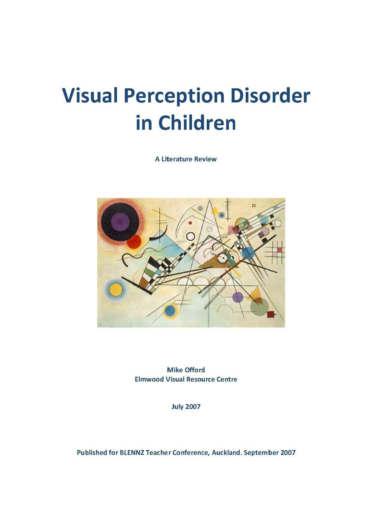 File:Visual Perception Disorders In Children.pdf