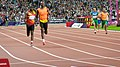 Visually impaired athletes competing in the Olympic Stadium (9375674645).jpg