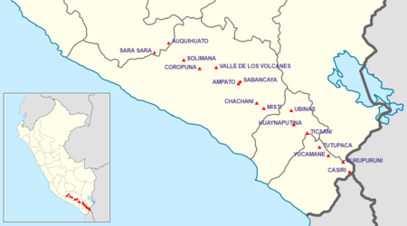 List of volcanoes in Peru - Wikipedia