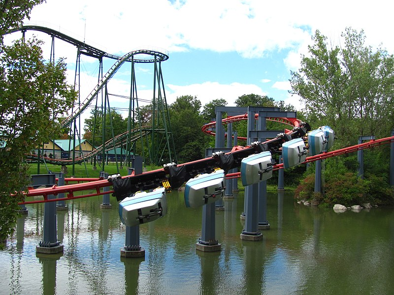 roller coaster at Canada's Wonderland theme park, fun in the Toronto area