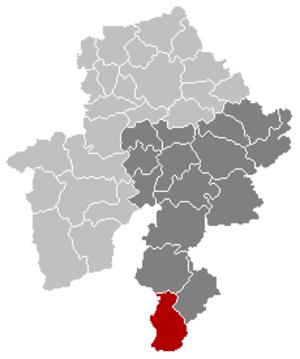 Vresse-sur-Semois - Image: Vresse sur Semois Namur Belgium Map