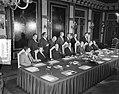 Vrijdagmiddag werd in Den Haag de eerste zitting van het nieuwe kabinet gehouden, Bestanddeelnr 908-0617.jpg