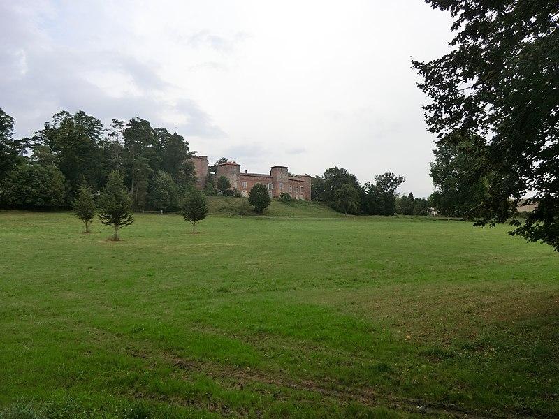 Vue lointaine du château du Montellier.