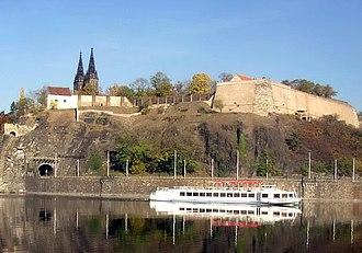 Vyšehrad - Vyšehrad from the southwest