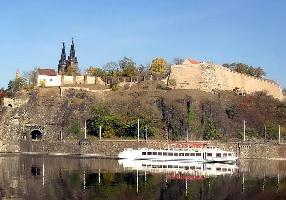 Vysehrad as seen over the Vltava from Cisarska louka 732 cropped