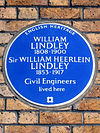 WILLIAM LINDLEY 1808-1900 Sir WILLIAM HEERLEIN LINDLEY 1853-1917 Civil Engineers lived here.jpg