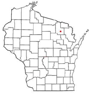 Laona, Wisconsin - Image: WI Map doton Laona