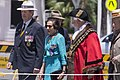 Wagga Wagga RSL sub-branch President Kevin Kerr, Governor of New South Wales Professor Marie Bashir and Mayor of the City of Wagga Wagga Rod Kendall at the Kangaroo March commemoration ceremony.jpg