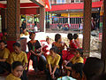 Waiting for more relatives to arrive funeral ceremony in Tana Toraja.jpg