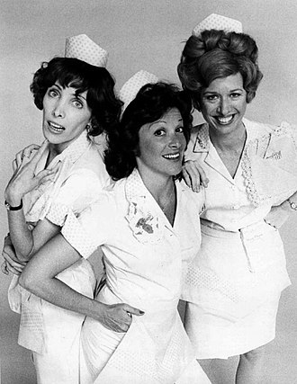 Alice (TV series) - The waitresses at Mel's Diner from left: Vera (Beth Howland), Alice (Linda Lavin), Flo (Polly Holliday).