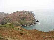 Walkers on the coastal path above Hell's Mouth - geograph.org.uk - 1115215.jpg