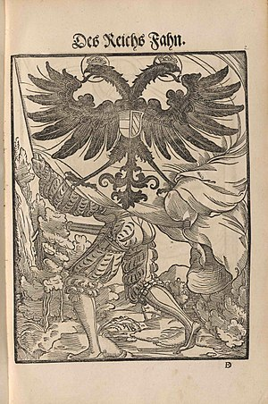 Flags of the Holy Roman Empire - Image: Wapen 1545 Des Reichs Fahn