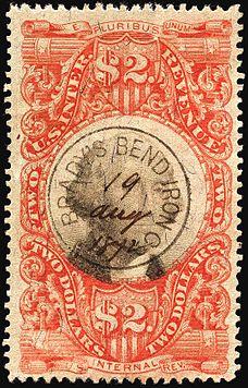 Washington Revenue 2 1872 Issue