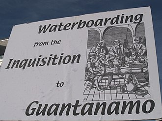 Waterboarding - Photo from a protest against waterboarding