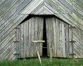Weathered old tobacco barn, Stecoah, North Carolina LCCN2011631681.tif