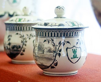 Frog Service - Jars with covers, with the dessert borders, Hermitage Museum