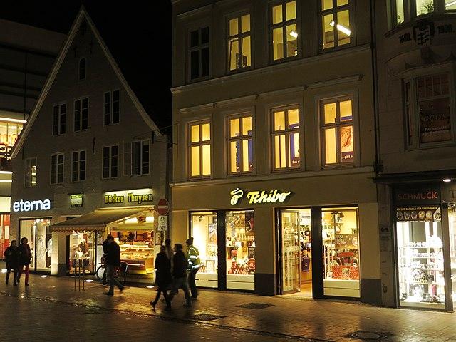 Weihnachtszeit in Flensburg in Deutschland