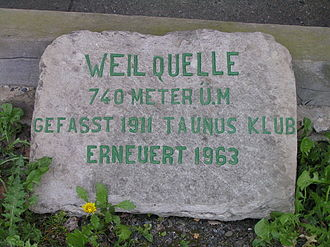Weil (river) - Source of the Weil 1963 by Taunusklub