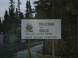 Ndilǫ - Image: Welcome to N'Dilo