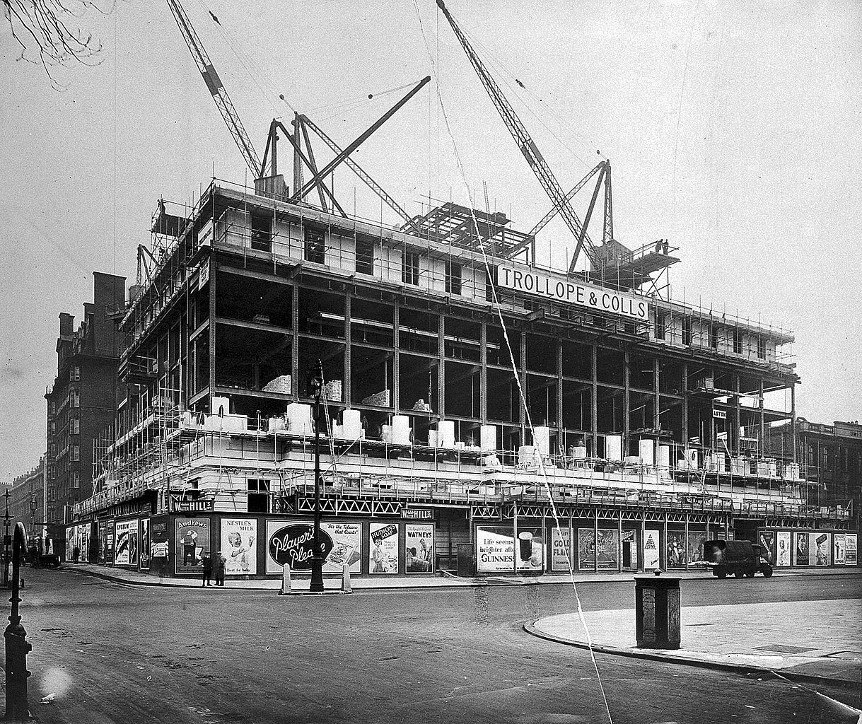 File wellcome building under construction 1931 wellcome for Building under construction insurance