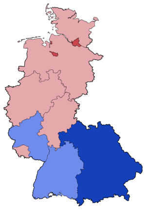West German federal election, 1980 - Image: West German Federal Election Party list vote results by state 1980