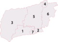 West sussex districts numbered.png