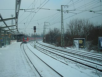 Munich-Westkreuz station - Munich-Westkreuz station during construction works in January 2012.