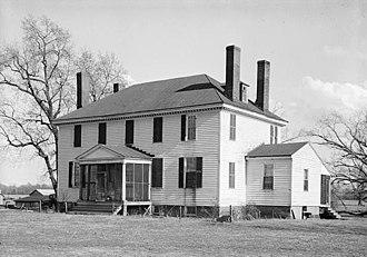 Weyanoke, Virginia - Weyanoke plantation house, HABS photo, 1930s