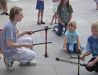 Devil sticks - Children learning 'the pendulum'