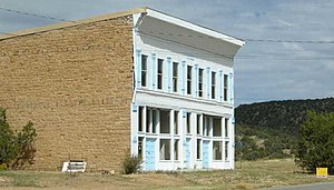 White Oaks, New Mexico - Old commercial building in White Oaks