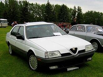 Alfa Romeo 164 - Image: White Alfa Romeo 164