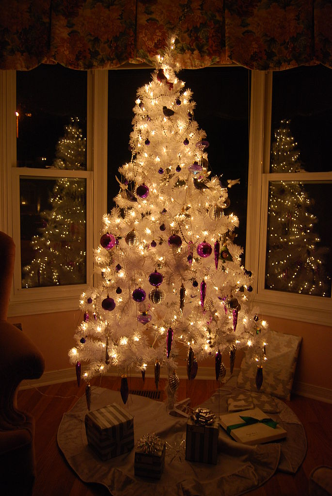 filewhite christmas treejpg wikipedia