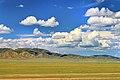Widoki mongolskiego krajobrazu widziane z minibusa Karakorum - Ułan Bator (15).jpg