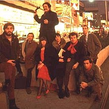 Lanford Wilson, Jean-Claude van Itallie, H.M. Koutoukas, Rosalyn Drexler, Irene Fornes, Leonard Melfi, Tom Eyen, Paul Foster (on right), 1966