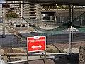 Wikimania 2014 signage on John Trundle Highwalk 01.jpg