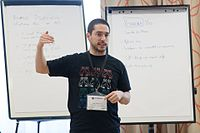 Wikimedia Hackathon Vienna 2017-05-19 Mentoring Program Introduction 031.jpg