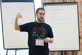 Wikimedia Hackathon Vienna 2017-05-19 Mentoring Program Introduction 031.jpg