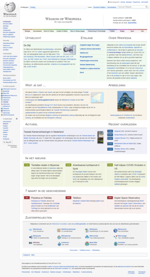 Dutch Wikipedia - The Dutch Wikipedia in September 2015