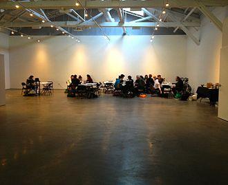 Wattis Institute for Contemporary Arts - Wikipedia ArtAndFeminism Meetup at Wattis Institute for Contemporary Arts, San Francisco, February 1, 2014.